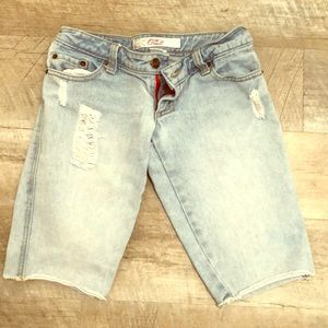 O'Neill size 0 long jean shorts